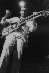 John McLaughlin lets rip during a Mahavishnu Orchestra gig at Sydney's Hordern Pavilion in November 1974.
