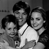 Brummer with Melissa George (Angel) and Corey Glaister (Dylan) on the set of Home and Away in 1995.