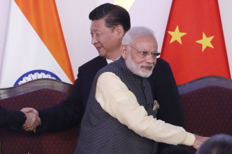 Chinese President Xi Jinping and Indian Prime Minister Narendra Modi.