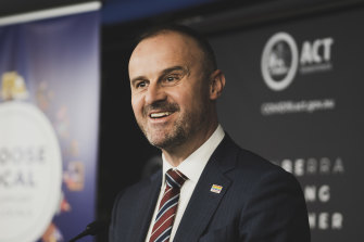 """ACT Chief Minister Andrew Barr: """"This is the most serious public health risk that we are faced in the territory this year."""""""