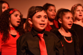 Members of the Dhungala Children's Choir.