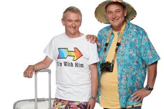 Matt (left) and Brett appear in the new season of Travel Guides on Nine.