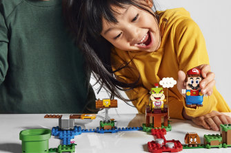 The Lego Mario sets are designed to be played with, not built and displayed.