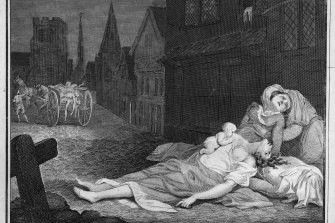 In 1665 London was in the grip of the plague. Eyam was infected thanks to a bundle of cloth ordered from the big city.