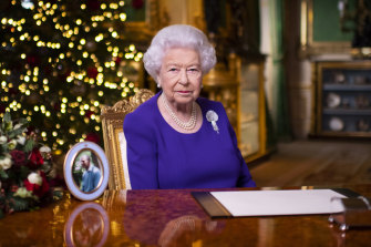 Queen Elizabeth delivers her traditional pre-recorded Christmas Day address to the nation.