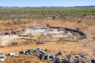 The quarry site where granite representing the tail of Kurlapal, the rainbow serpent, was dug up.