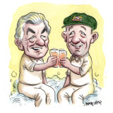 Hawkey and The Don. Illustration: John Shakespeare