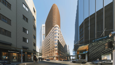Scentre and Cbus Property have lodged plans to transform David Jones' Market Street into luxe retail and apartments.