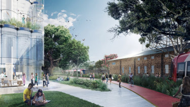 A proposed design for the University of Sydney's new Westmead campus.