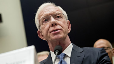 Chesley 'Sully' Sullenberger speaks speaks during a House Transportation and Infrastructure Subcommittee on Aviation hearing in Washington.