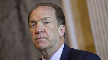 """David Malpass: """"The global economic outlook, in both the near- and long-term, is confronting substantial challenges."""""""