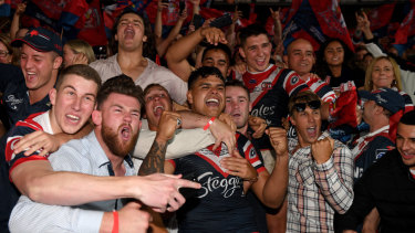 Don't let anyone tell you that Roosters fans aren't a passionate lot.
