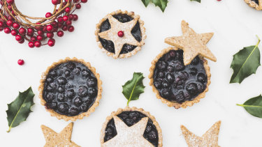 Sabrina Muscat's blueberry and vanilla Christmas pies.