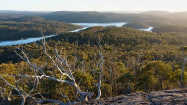 A scene in the Walls of Jerusalem National Park, near an area of Tasmanian wilderness where a helicopter-accessed luxury tourism development is proposed.