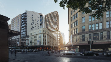 Scentre Group and Cbus Property have lodged plans for a new luxury retail store and apartment tower at 77 Market Street, Sydney.