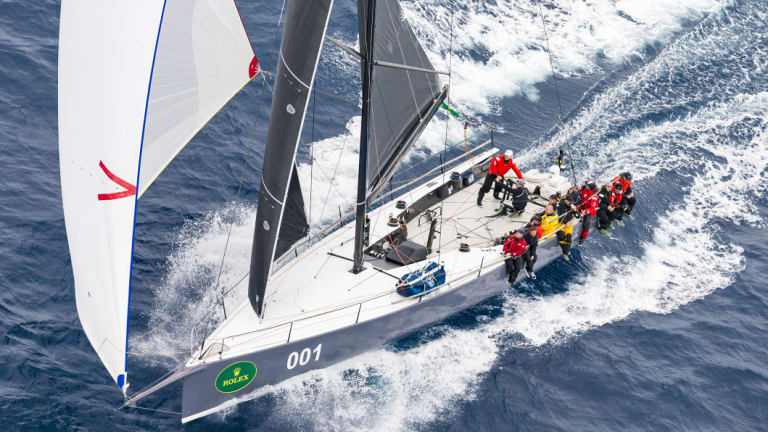 In action: Ichi Ban set a cracking pace in last year's Sydney to Hobart.