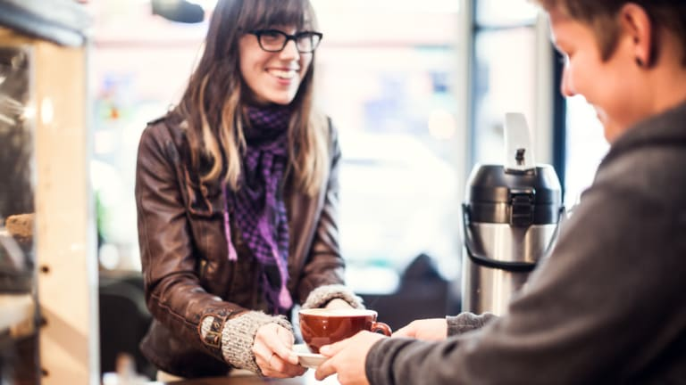 Micro social interactions, such as a chat to the person making your daily coffee, can give wellbeing a boost.
