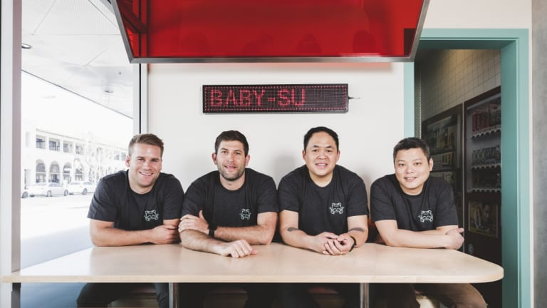 The Baby Su team, from left: Jared Calnan, Ben Ilic, Andrew Duong, and Shao Yi Kuek. Photo: