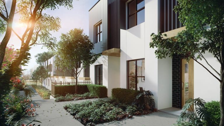 An artist impression of one of the townhouses in the Wish development.