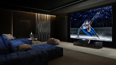 The 100-inch Series L is a projection system that Hisense claims is as hassle-free as a traditional TV.