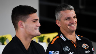 Like father like son: Nathan and Ivan Cleary.