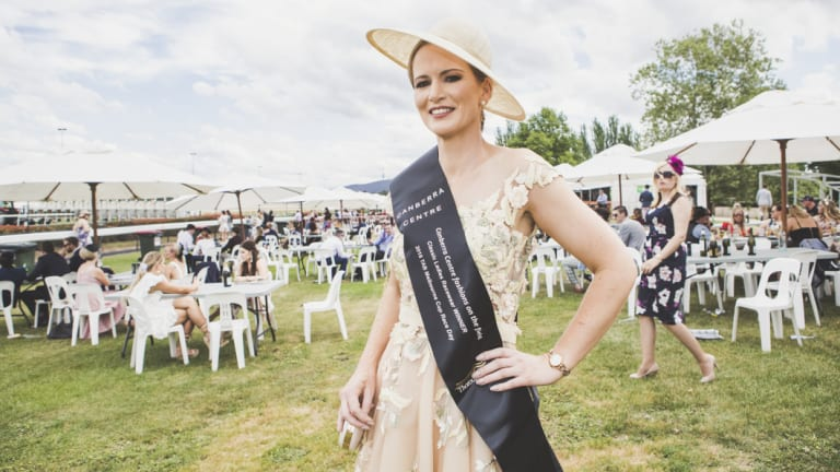 'I had to have it': Fashions on the Field winner Alison Jones drove to Sydney to collect her second-hand dress, originally made in Italy.