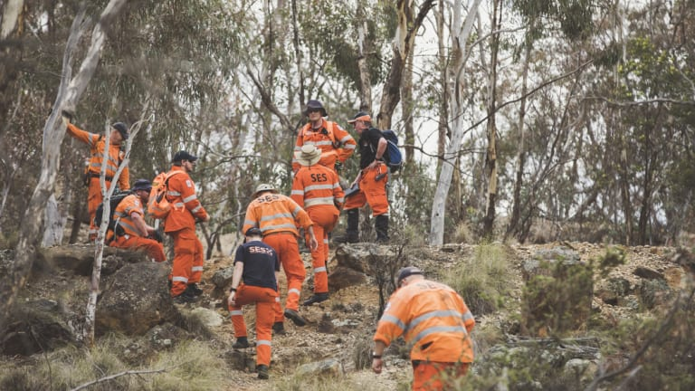 SES searching Mount Ainslie.