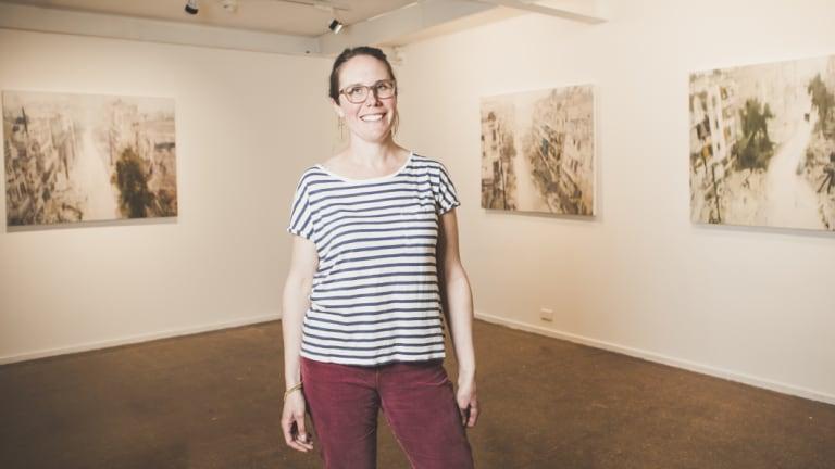 Braidwood artist Kate Stevens, the inaugural winner of the $50,000 Evelyn Chapman Art Award.