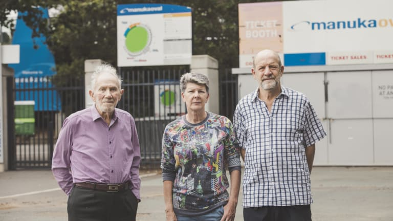 Manuka residents Mervyn Knowles, Caroline Luke and Peter Jansen are worried about changes to parking restrictions.