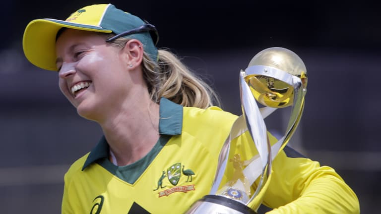 Role model: Cricket Australia believes women stars such as Meg Lanning are inspiring girls to take up the game.