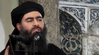 The leader of the Islamic State group, Abu Bakr al-Baghdadi, pictured in 2014, is believed to be in Iraq.