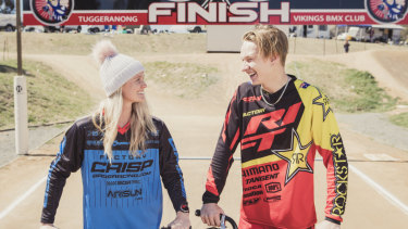 Leanna Curtis and Nathaniel Rodway won the main events as the BMX Australia national series returned to Canberra for the first time in five years.