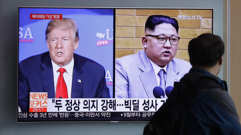 Donald Trump and Kim Jong-un are due to meet in Singapore on June 12 but the meeting is now in doubt.