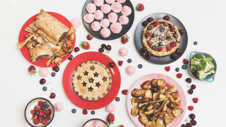 Local travel blogger Jessica Whalen's Christmas spread of Portobello wellingtons, chickpea-water meringues and chocolate pies.