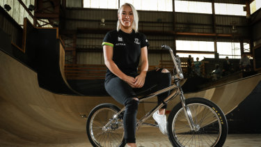 Caroline Buchanan hopes to be back on her bike by June.