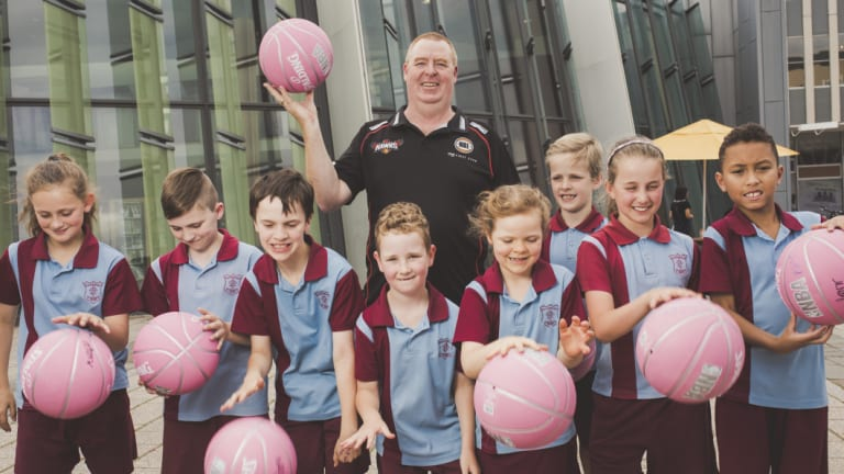 Hawks coach Rob Beveridge hopes the Hawks' arrival gives Canberra kids a basketball pathway.