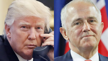 Malcolm Turnbull had to persuade Donald Trump to honour the refugee deal during a heated phone call.