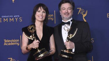 Deborah Riley, with Game of Thrones' art director Paul Ghirardani.