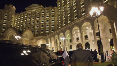 The Ritz Carlton Hotel in Riyadh was turned into a luxury prison during a 'corruption purge' started in November 2017.