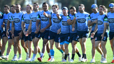 The Blues, training on Wednesday at the Hale School in Perth, face challenges to be tight in defence.