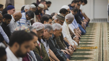 Hundreds gathered at Canberra Islamic Centre to remember the Christchurch massacre victims.