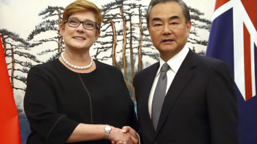 Marise Payne and Wang Yi asserted the warmth of the relationship.