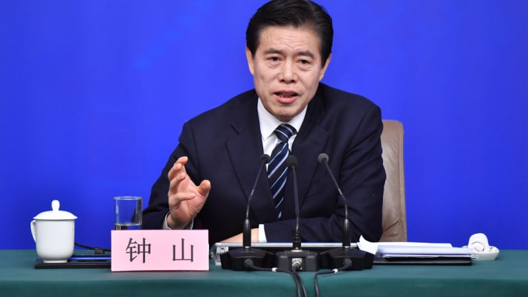 Chinese Minister of Commerce Zhong Shan says China is not afraid of a trade war.