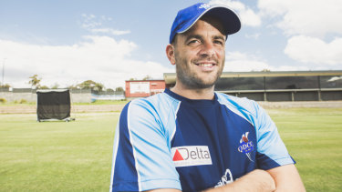 Leigh Walker is playing cricket for Queanbeyan after joining the club from England.