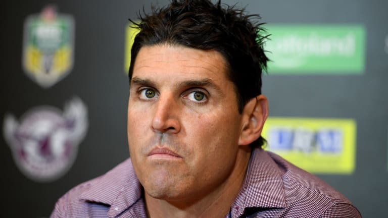 Trent Barrett could be returning to work at Manly.