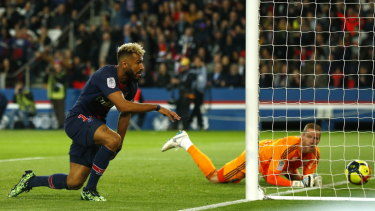 He scored earlier, but PSG's Eric Choupo-Moting has gone viral for a missed goal.