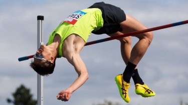 Australian Brandon Starc won the high jump at the Diamond League event in Birmingham.