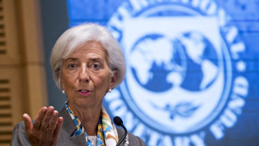 """Some of these risks have started to materialise"":  IMF chief Christine Lagarde."
