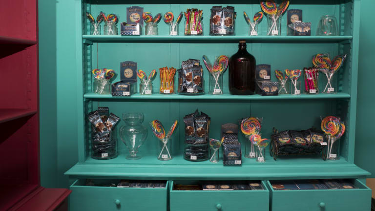 The store will sell chocolate jumping frogs, jelly slugs and chocolate wands.