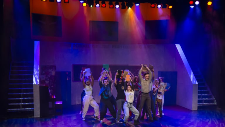 <p>A group number in <i>Fame the Musical</i></p>